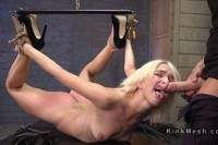 Blonde slave got hard fucked