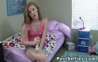 Redheaded teen on dildo tutorials