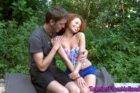 Ginger teenager face jizz
