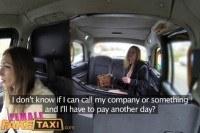 Taxi big tits barmaid gets lesbian tribbing