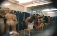 Naked amateurs spied in dressing room