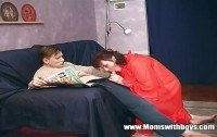 Stepmom teaching stepson real hard sex