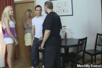 Parents and girlfriend get it on