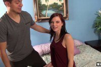 Chloe love spreads her teen legs for