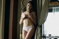 Abril pleasures herself