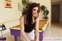Hottie india summer massaging a big cock