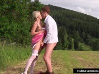 Teen gets nailed outdoors