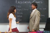 Schoolgirl rides teacher