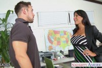 Sex teacher lezley zen gives titjob