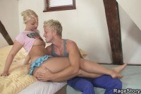 Deepthroat and hardfor blonde gf