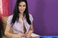 European blowjob babe with blackhair