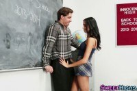 Latina teen fucks teacher