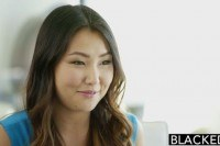 Asian babe jade luv screams on massive