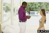 Young girl skye west first interracial
