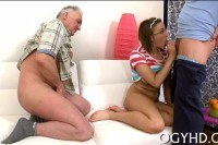 Old dude fucks young girl