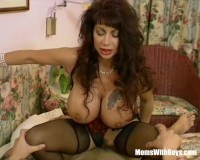 Brunette with massive tits fucked in sexy