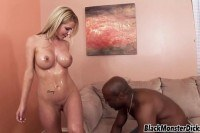Tit blonde pounded by black dick