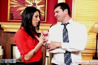 Brunette dava foxx gets it in the office