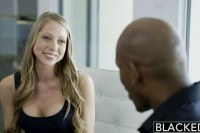 Blonde shawna lenee screams on huge black