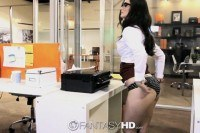 Secretary lily carter fucks in the office