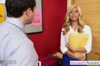 Blonde gemma jolie gets nailed in the office