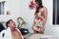 Brooklyn chase gets big tits cummed at