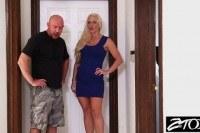 Blonde milf fucks her husbands best friend