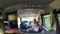 Taxi wild lesbians share a massive dildo in