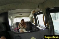 Euro pussyfucked in taxi