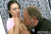 Young chick fucks old guy