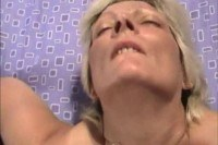 Blonde pov facial cumshot
