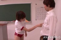 Jap schoolgirl has learned how to please