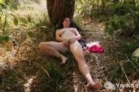 Michelle masturbating in the nature