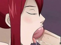 Asian big tits blowjob cartoon