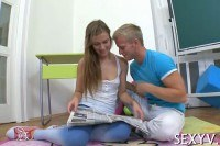 Of a teen teased hard