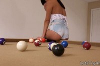 Amateur girlfriend anal try out on pool