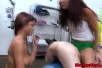 Lesbian freshwoman in oral session