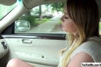 Stranded teen alex blake exchange her pussy