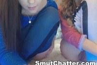 Brunette babe fingering herself on web cam