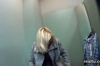 Czech chick gets seduced in the shopping
