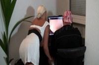 Big boobs blonde milf gives her man a