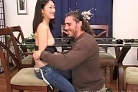 Lin fucks a big cock in homegrown vid