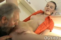 Young babe screwed by old guy