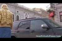 Russian jeans miniskirt blonde