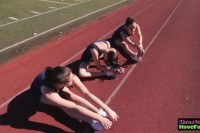 Real athletic teen lesbos