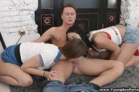 Sex partiesthreeway with assriding