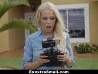 Blonde teen caught spying