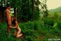Shameless outdoor sex