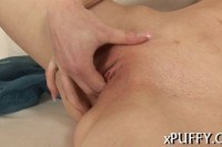 Plowing pussy with candle