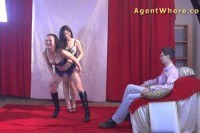 Nerd gets wild striptease from two czech